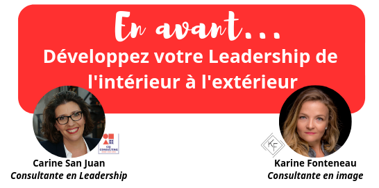 « EN AVANT, Développez votre Leadership de l'intérieur et l'extérieur. »